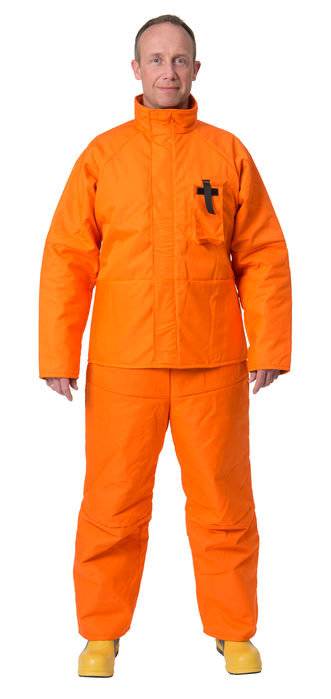 Fireman suit | VIKING two- piece fireman suit in orange