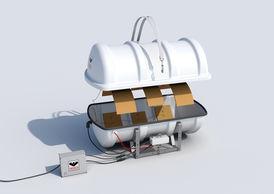 VIKING Polar Liferaft throw overboard 35 pers. 35DK+
