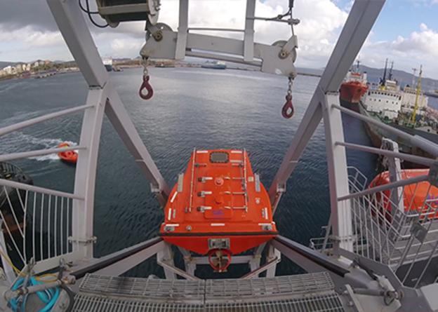 VIKING Safety Academy free-fall lifeboat training