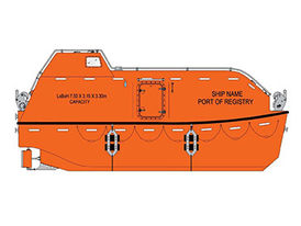 VIKING Norsafe JYN-75 totally enclosed lifeboat - maximum 68 persons