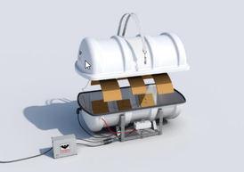 VIKING Polar Liferaft davit launchable self-righting – 25 pers. 25DKFS